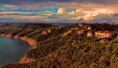 Photograph - Lake Travis Sunset by Judy Vincent