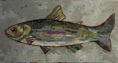Painting - Lake Trout by Phiddy Webb