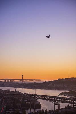 Float Plane Photograph - Lake Union Landing by Pelo Blanco Photo