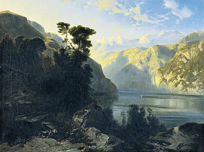 Painting - Lake Uri With Urirotstock by Alexandre Calame