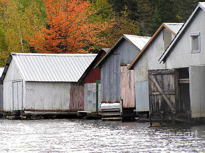 Photograph - Lake Vermillion Boathouses by Li Newton