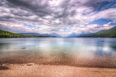 Abstract Male Faces - Lake View at Glacier National Park by Spencer McDonald