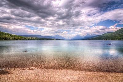 Photograph - Lake View At Glacier National Park by Spencer McDonald
