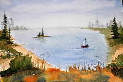 Lake View Art Print by Brenda Douglas