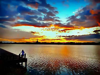 Photograph - Lake View by Ian Gledhill