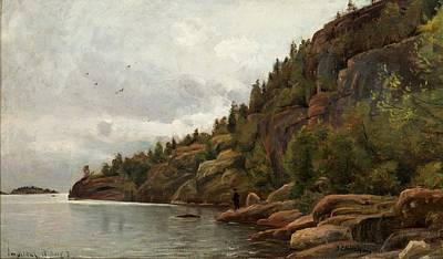 Painting - Lake View In August From Impilahti Finland by Celestial Images