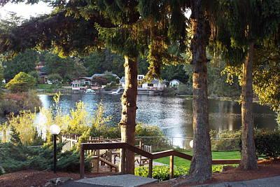 Beverly Lake View In Fall Art Print by Judyann Matthews