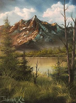 Painting - Lake View Mountain  by Paintings by Justin Wozniak