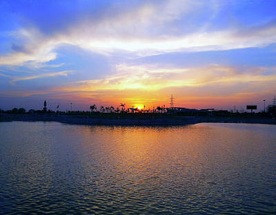 Photograph - Lake View Sunset by Atullya N Srivastava