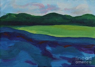Lake Visit Art Print by Annette M Stevenson