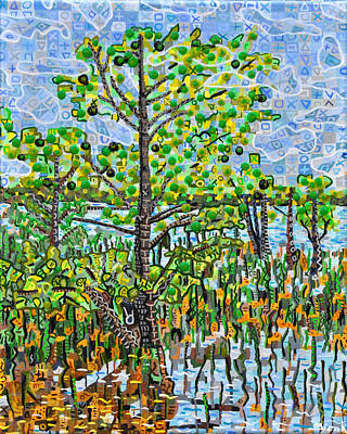 Lake Waccamaw Painting - Lake Waccamaw 2 by Micah Mullen