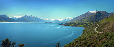 New Zealand Photograph - Lake Wakatipu New Zealand Panorama by Joan Carroll
