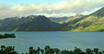 Photograph - Lake Wakatipu, Queenstown, New Zealand No. 1 by Sandy Taylor