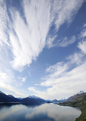 Lake Wakatipu Sky Art Print by Barry Culling