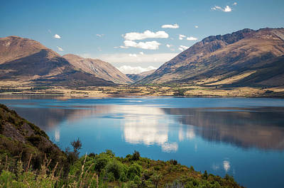 Photograph - Lake Wakatipu's Calm Waters, New Zealand by Daniela Constantinescu