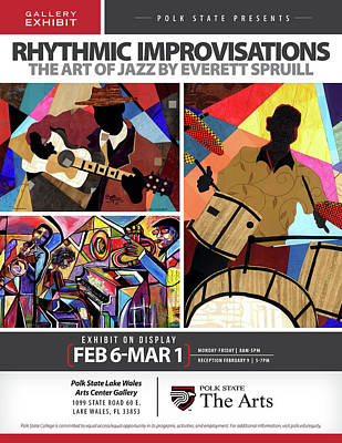 Jacob Lawrence Mixed Media - Rhythmic Improvisations - The Art Of Jazz by Everett Spruill
