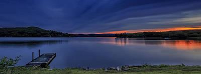 Photograph - Lake Waramaug Sunset Panorama by John Vose
