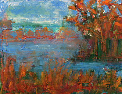 Painting - Lake Washington Fall Colors by Walter Fahmy