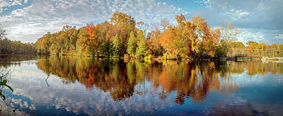 Photograph - Lake Waterford Fall - Pano by Brian Wallace