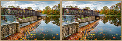 Mixed Media - Lake Waterford Fall Waterscape - 3d X-view by Brian Wallace