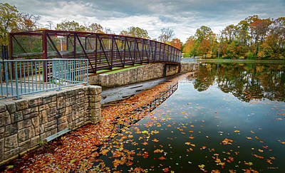 Photograph - Lake Waterford Fall Waterscape by Brian Wallace