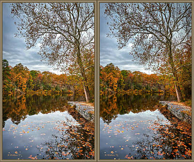 Photograph - Lake Waterford In Fall - 3d Xview by Brian Wallace