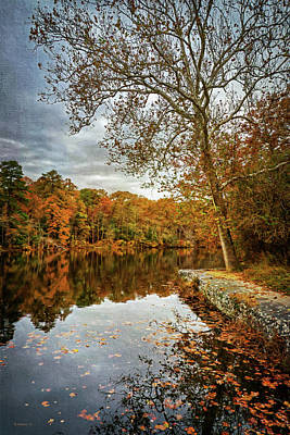Photograph - Lake Waterford In Fall - Paint Fx by Brian Wallace