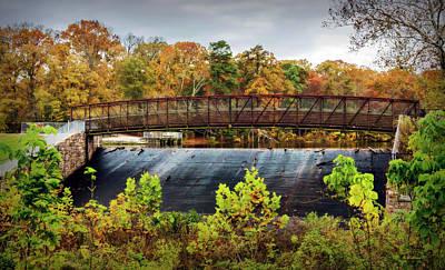 Photograph - Lake Waterford Walk-bridge In Fall by Brian Wallace