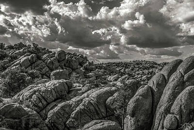 Photograph - Lake Watson Granite Rocks Prescott Arizona Bnw 2482 by David Haskett