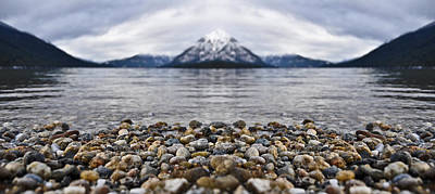 Winter Lake Photograph - Lake Wenatchee Rocks Reflection by Pelo Blanco Photo