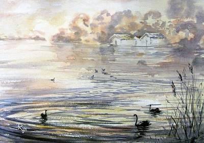 Lake Wendouree Art Print