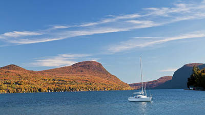 Photograph - Lake Willoughby Autumn Scenic by Alan L Graham