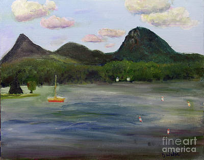 Painting - Lake Willoughby Boat Ramp by Donna Walsh