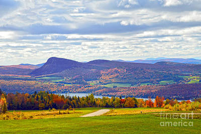 Lake Willoughby In Autumn Art Print by Catherine Sherman