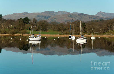 Lake Windermere Yachts Art Print by John D Hare