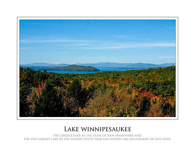 Lake Winnipesaukee - Fall Art Print by Jim McDonald Photography