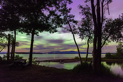 Photograph - Lake Winnipesaukee Aurora Borealis by Robert Clifford
