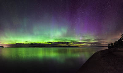 Photograph - Lake Winnipesaukee Aurora by Robert Clifford