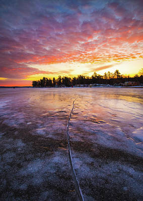 Photograph - Lake Winnipesaukee January Sunrise by Robert Clifford