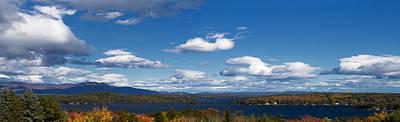 Lake Winnipesaukee New Hampshire In Autumn Art Print by Stephanie McDowell