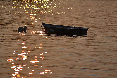 Photograph - Lake Winnipesaukee Row Boat by Toby McGuire