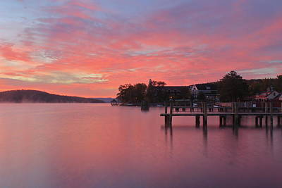 Photograph - Lake Winnipesaukee Sunrise by John Burk