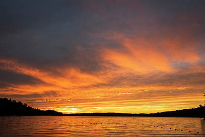 Photograph - Lake Winnipesaukee Sunset Carry Beach Wolfeboro Nh by Toby McGuire