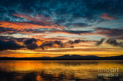 Photograph - Lake Winnisquam Sunrise3 by Mike Ste Marie