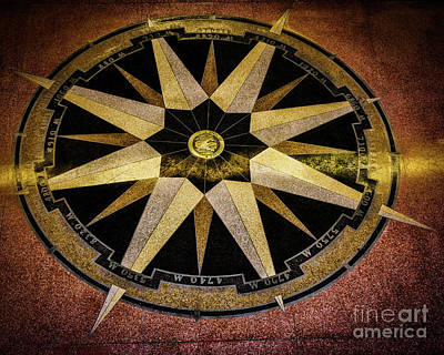 Photograph - Lakefront Airport Compass To The World by Kathleen K Parker
