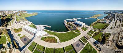 Photograph - Lakefront Panorama by Randy Scherkenbach