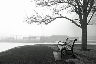 Photograph - Lakeland Park Bench, Cazenovia by Brooke T Ryan