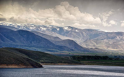 Photograph - Lake,mountain And Sky by AJ Schibig