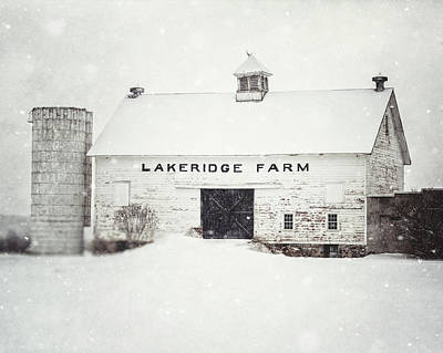 Photograph - Lakeridge Farm In The Snow by Lisa Russo