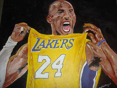 Lakers Painting - Lakers 24 by Daryl Williams Jr